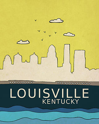 Louisville Poster by Lisa Barbero