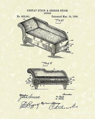 Lounge 1890 Patent Art Poster