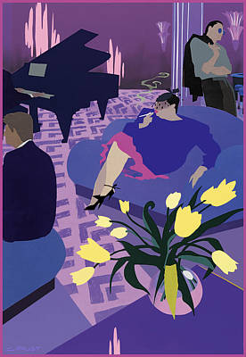 Lounge Poster by Clifford Faust