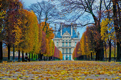 Louvre In Fall Poster