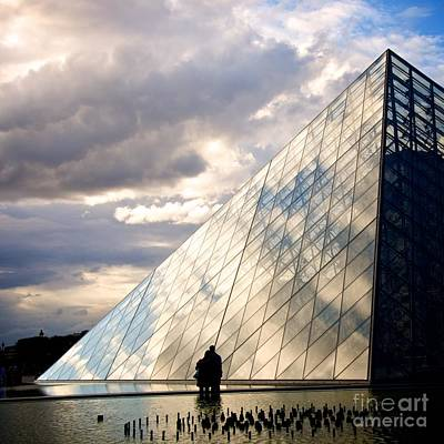 Louvre Pyramid. Paris Poster by Bernard Jaubert
