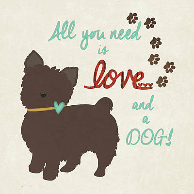 Love & A Dog Poster