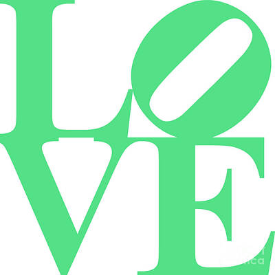 Love 20130707 Green White Poster by Wingsdomain Art and Photography