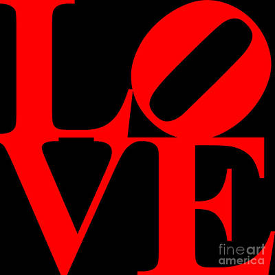 Love 20130707 Red Black Poster by Wingsdomain Art and Photography