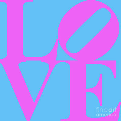 Love 20130707 Violet Blue Poster by Wingsdomain Art and Photography