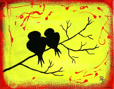 Love Birds Art Poster