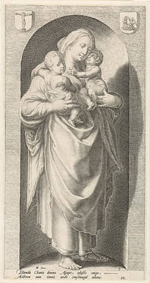Love Caritas, Jacob Matham, Franco Estius Poster by Jacob Matham And Franco Estius