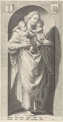Love Caritas, Print Maker Jacob Matham Poster by Jacob Matham And Hendrick Goltzius And Franco Estius
