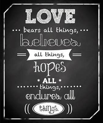 Love Endures Poster by Anna Quach