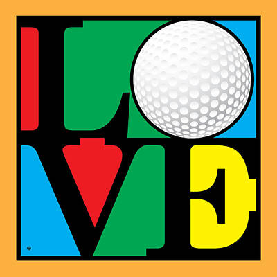 Love Golf Poster by Gary Grayson