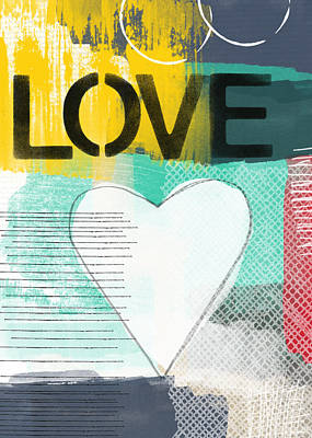 Love Graffiti Style- Print Or Greeting Card Poster by Linda Woods