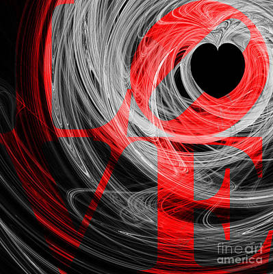 Love Heart 20130707 V2b Poster by Wingsdomain Art and Photography