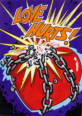 Love Hurts Poster by MGL Studio