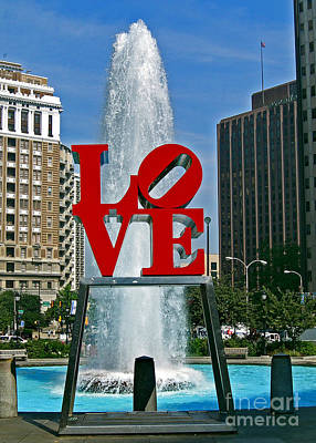 Love In Philly Poster by Skip Willits