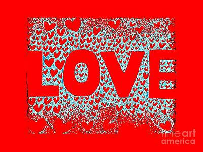 Love In Red Poster by Helena Tiainen