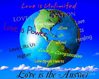 Poster featuring the digital art Love Is. . . . by Bobbee Rickard