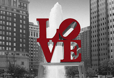 Love Is Red Poster by Brian Wallace