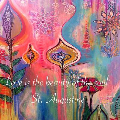 Love Is The Beauty Poster by Robin Mead