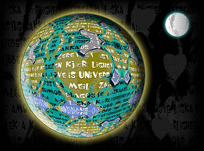 Love Is Universal - Earth Poster