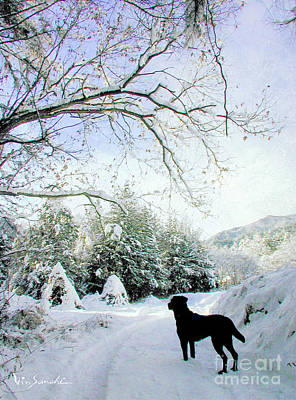 Love Lab Snow 3 Poster by Vin Kitayama