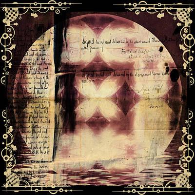 Love Letter Mandala - Contemporary Poster by Georgiana Romanovna