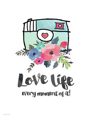 Love Life Poster by Jo Moulton