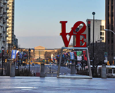 Love Park And The Parkway Poster by Bill Cannon