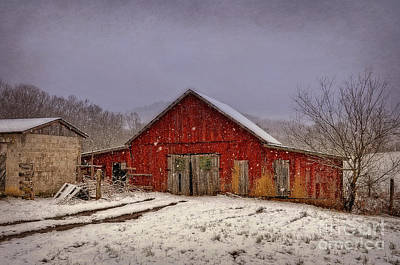 Poster featuring the photograph Love Old Barns by Brenda Bostic