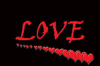 Love On Black Poster by Aimee L Maher Photography and Art Visit ALMGallerydotcom