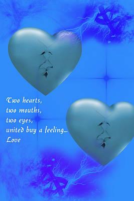 Poster featuring the digital art Love On Valentine's Day by Angel Jesus De la Fuente