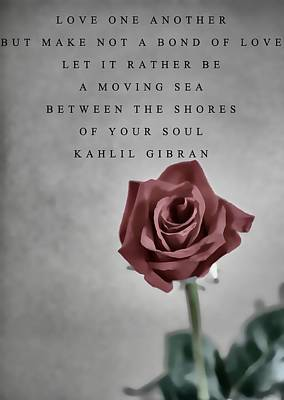 Love One Another Kahlil Gibran Poster