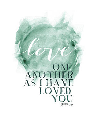 Love One Another Watercolor Circl Poster