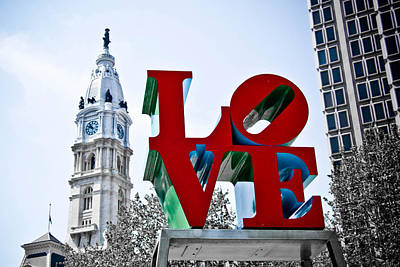 Love Park And City Hall Poster