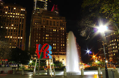 Love Park Poster by Jacob Leff