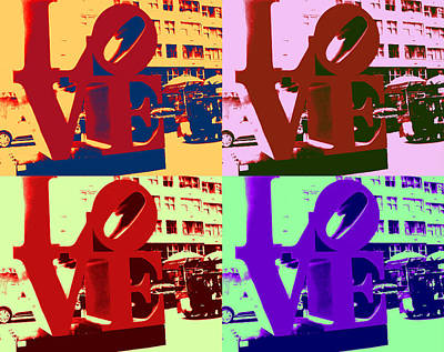 Poster featuring the digital art Love Pop Art II by J Anthony