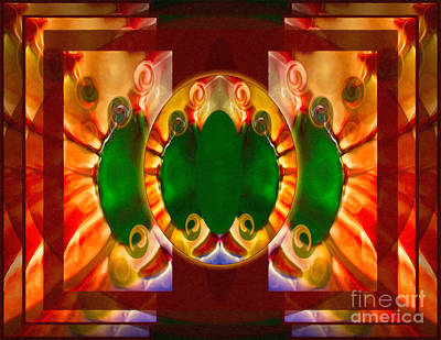 Love Reborn Into Life Abstract Healing Art Poster