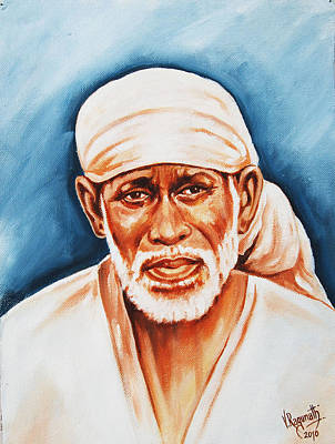 Poster featuring the painting Love Supreme-baba by Ragunath Venkatraman