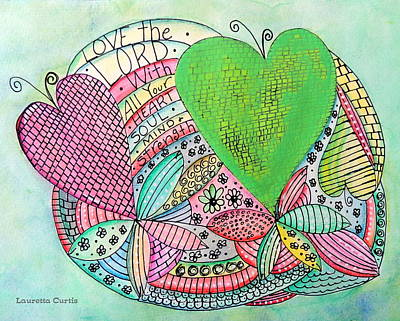 Love The Lord Poster by Lauretta Curtis
