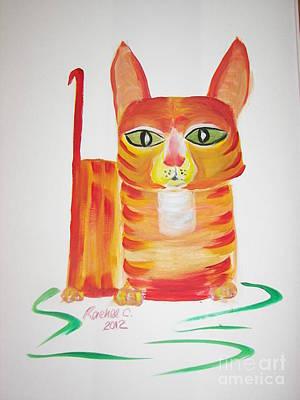 Love Those Orange Tabbies Poster by Rachel Carmichael