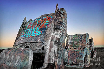 Love To All Cadillac Ranch Poster
