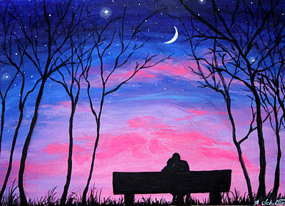 Love Under The Stars Poster by Amy Scholten