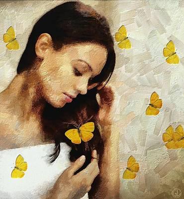 Loved By Butterflies Poster by Gun Legler