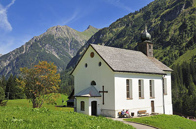 Lovely Church In Beautiful Mountain Landscape Poster