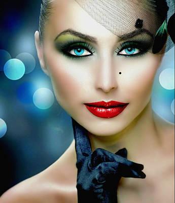Lovely Lady 1 Poster by Karen Showell