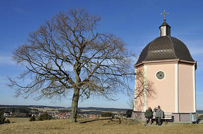 Lovely Little Chapel And A Tree Poster by Matthias Hauser