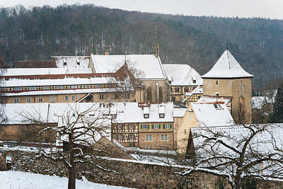 Lovely Medieval Old Town In Winter Poster