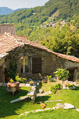Lovely Old Stone House Ticino Switzerland Poster