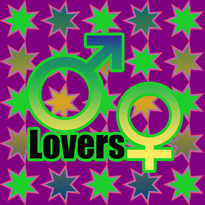 Lovers In Pop Art Poster