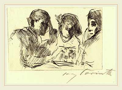 Lovis Corinth, Chess Players Schachspiel Poster by Litz Collection