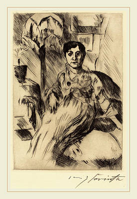 Lovis Corinth, Interior With Woman Interieur Mit Frau Poster by Litz Collection